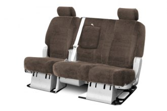 Coverking® - 3rd Row Velour Custom Taupe Seat Covers