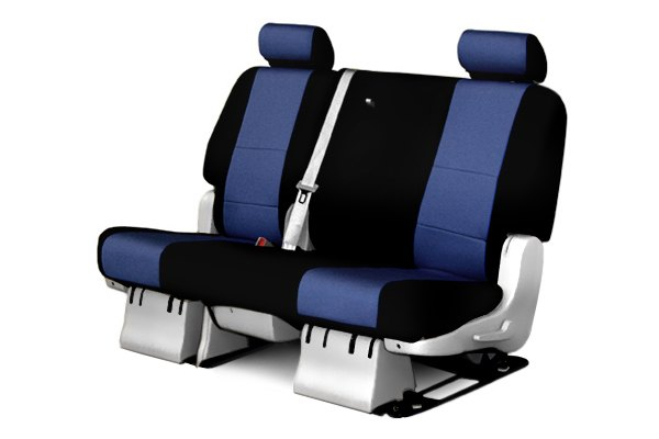 Coverking® - 2nd Row CR-Grade Neoprene Custom Blue Seat Covers with Black Sides