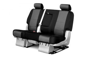 Coverking® CSCF12JP7006 - 2nd Row CR-Grade Neoprene Custom Charcoal Seat Covers with Black Sides