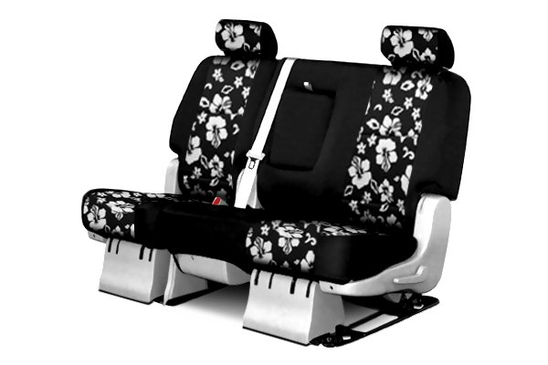 Coverking® - 2nd Row CR-Grade Neoprene Custom Hawaiian Black Seat Covers with Black Sides
