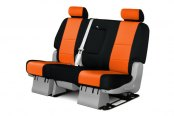 Coverking® - 2nd Row CR-Grade Neoprene Custom Inferno Orange Seat Covers with Black Sides