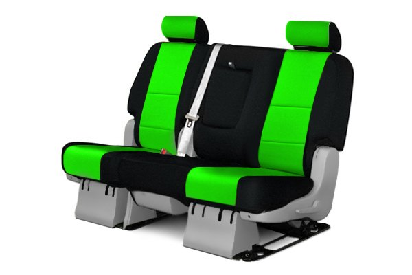Coverking® - 2nd Row CR-Grade Neoprene Custom Synergy Green Seat Covers with Black Sides