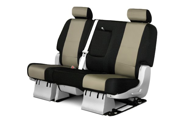 Coverking® - 2nd Row CR-Grade Neoprene Custom Tan Seat Covers with Black Sides