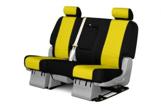 Coverking® CSCF5TT9624 - 2nd Row CR-Grade Neoprene Custom Yellow Seat Covers with Black Sides
