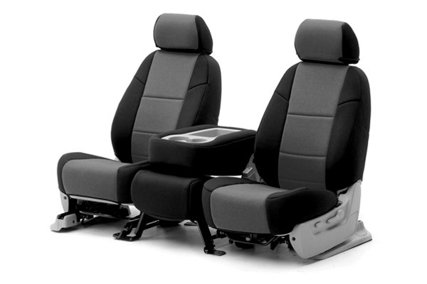Coverking® - 1st Row CR-Grade Neoprene Custom Charcoal Seat Covers with Black Sides