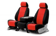 Coverking® CSCF2FT7006 - 1st Row CR-Grade Neoprene Custom Red Seat Covers with Black Sides