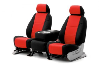 Coverking® CSCF2JP7002 - 1st Row CR-Grade Neoprene Custom Red Seat Covers with Black Sides