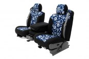 Coverking® - CR-Grade Neoprene Custom Blue Hawaiian Seat Covers with Black Sides