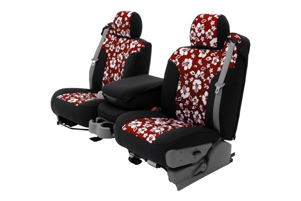 Coverking® - 1st Row CR-Grade Neoprene Custom Hawaiian Red Seat Covers with Black Sides