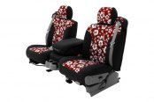 Coverking® - CR-Grade Neoprene Custom Red Hawaiian Seat Covers with Black Sides