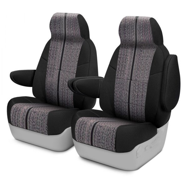 Coverking® - Saddleblanket 1st Row Black Custom Seat Covers