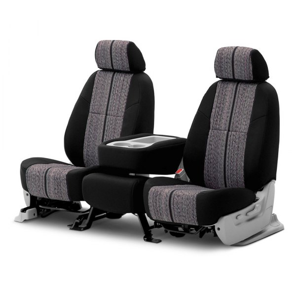 Coverking® - Saddleblanket 2nd Row Black Custom Seat Covers
