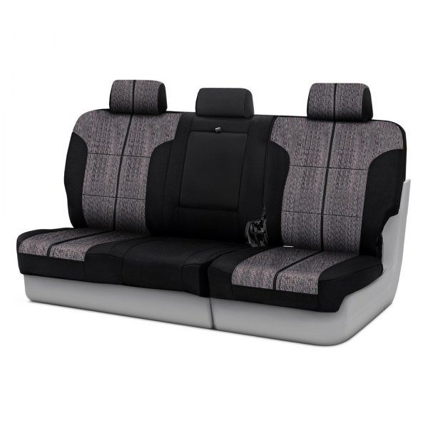 Coverking® - Saddleblanket 3rd Row Black Custom Seat Covers