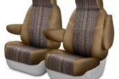 Coverking® - Saddleblanket 1st Row Tan Custom Seat Covers