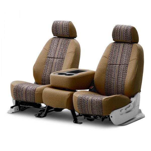 Coverking® - Saddleblanket 2nd Row Tan Custom Seat Covers