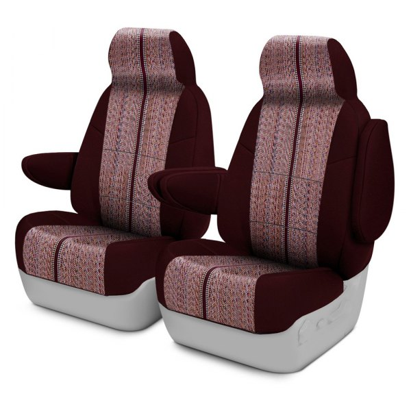 Coverking® - Saddleblanket 1st Row Wine Custom Seat Covers