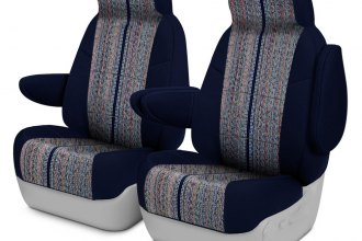 Coverking® - Saddleblanket 1st Row Dark Blue Custom Seat Covers