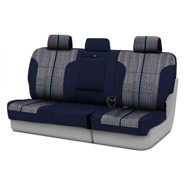 Coverking® - Saddleblanket 3rd Row Dark Blue Custom Seat Covers