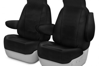 Coverking® CSC1E1NS9819 - Cordura Ballistic 1st Row Black Custom Seat Covers
