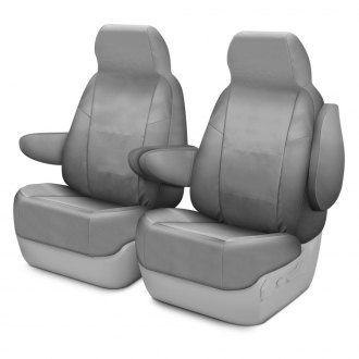 Coverking® - Cordura Ballistic 1st Row Light Gray Custom Seat Covers