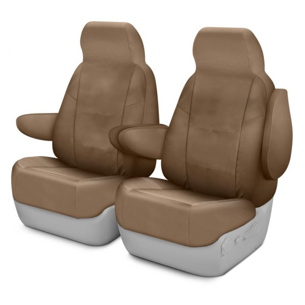 Coverking® - Cordura Ballistic 1st Row Tan Custom Seat Covers