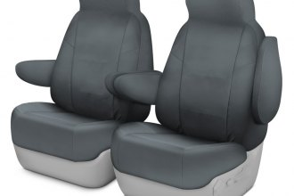 Coverking® CSC1E4FD8077 - Cordura Ballistic 1st Row Charcoal Custom Seat Covers