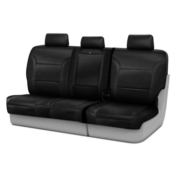 Coverking® - Genuine Leather 3rd Row Black Custom Seat Covers