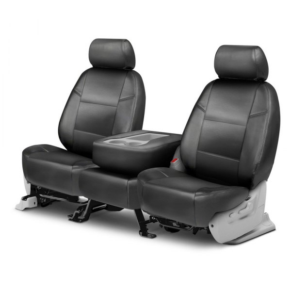Coverking® - Genuine Leather 2nd Row Gray Custom Seat Covers