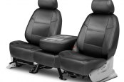 Image may not reflect your exact vehicle! Coverking® - Genuine Leather 2nd Row Gray Custom Seat Covers