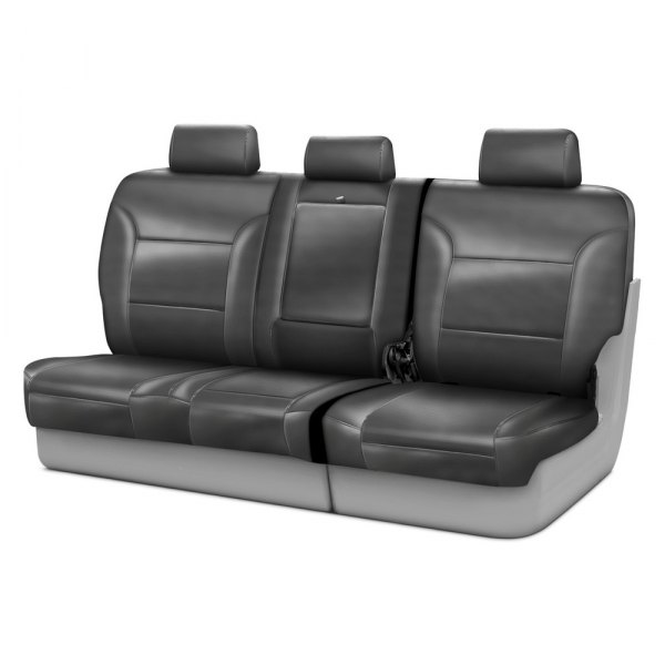Coverking® - Genuine Leather 3rd Row Gray Custom Seat Covers