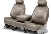 Image may not reflect your exact vehicle! Coverking® - Genuine Leather 2nd Row Beige Custom Seat Covers