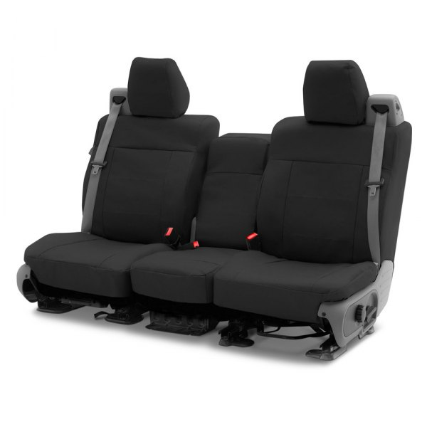 Coverking® - Polycotton Drill 2nd Row Black Custom Seat Covers