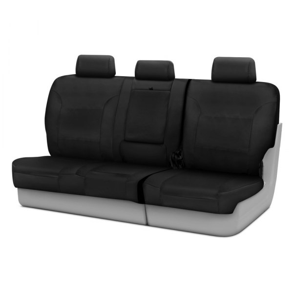 Coverking® - Polycotton Drill 3rd Row Black Custom Seat Covers