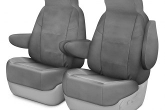 Coverking® CSC1P3DG7595 - Polycotton Drill 1st Row Medium Gray Custom Seat Covers