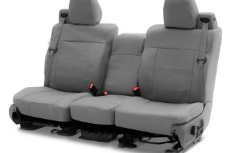 Coverking® - Polycotton Drill 2nd Row Medium Gray Custom Seat Covers