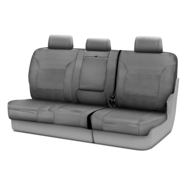 Coverking® - Polycotton Drill 3rd Row Medium Gray Custom Seat Covers