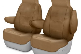 Coverking® CSC1P5CH8796 - Polycotton Drill 1st Row Tan Custom Seat Covers
