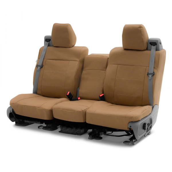 Coverking® - Polycotton Drill 2nd Row Tan Custom Seat Covers