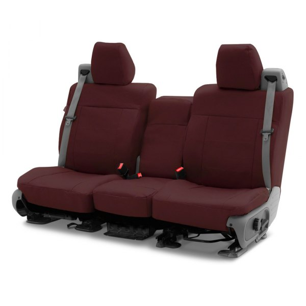 Coverking® - Polycotton Drill 2nd Row Wine Custom Seat Covers
