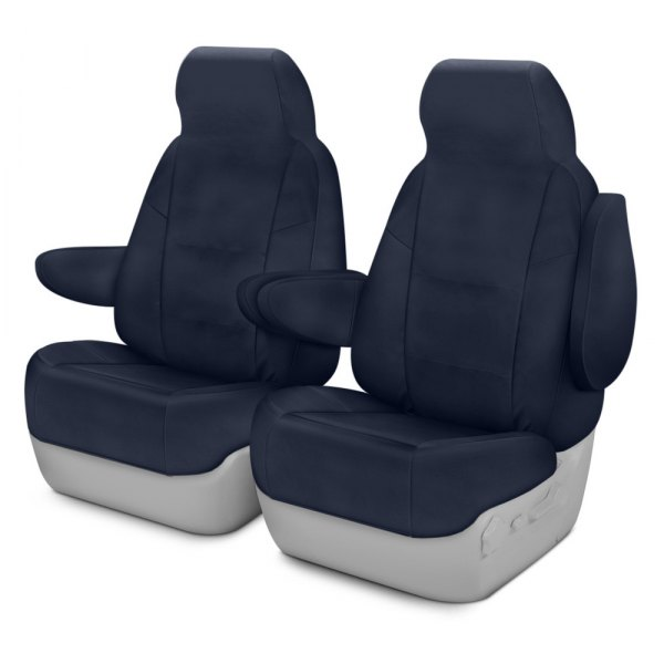 Coverking® - Polycotton Drill 1st Row Navy Blue Custom Seat Covers