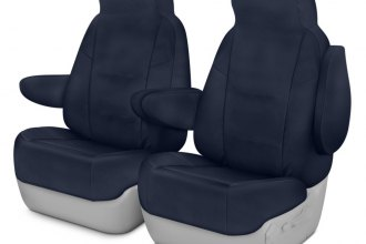 Coverking® CSC1P7MA7106 - Polycotton Drill 1st Row Navy Blue Custom Seat Covers