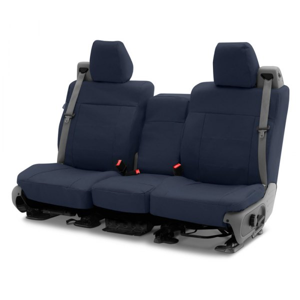 Coverking® - Polycotton Drill 2nd Row Navy Blue Custom Seat Covers