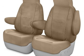 Coverking® CSC1PCMB7002 - Polycotton Drill 1st Row Cashmere Custom Seat Covers