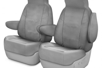Coverking® - Polycotton Drill 1st Row Light Gray Custom Seat Covers