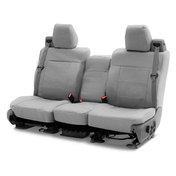 Coverking® - Polycotton Drill 2nd Row Light Gray Custom Seat Covers