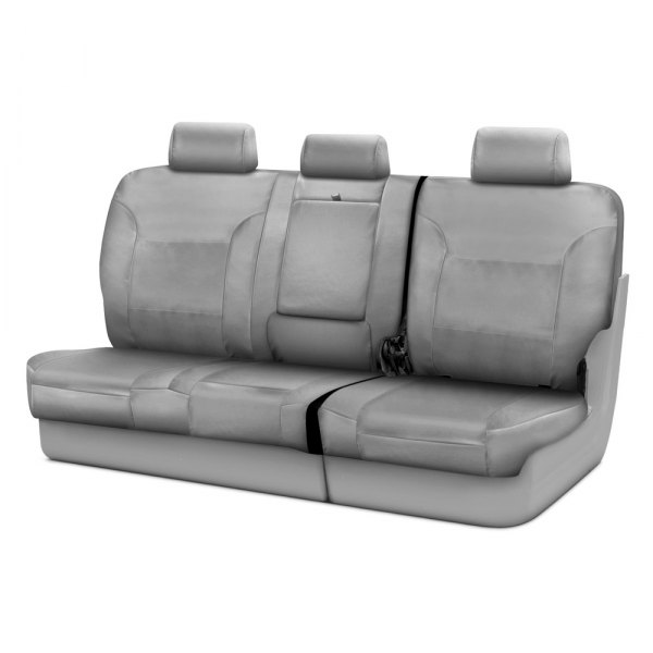 Coverking® - Polycotton Drill 3rd Row Light Gray Custom Seat Covers