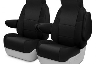 Coverking® CSC2A1NS7374 - Neosupreme 1st Row Black Custom Seat Covers