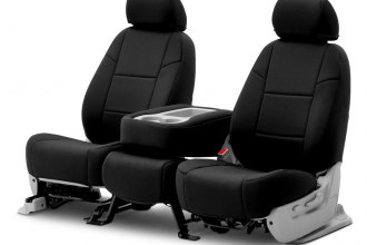 Coverking® CSC2A1JP7127 - Neosupreme 2nd Row Black Custom Seat Covers