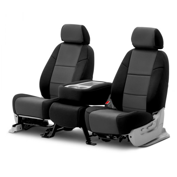 Coverking® - Neosupreme 2nd Row Black & Charcoal Custom Seat Covers