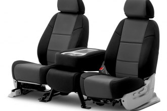 Coverking® CSC2A2MA7010 - Neosupreme 2nd Row Black & Charcoal Custom Seat Covers